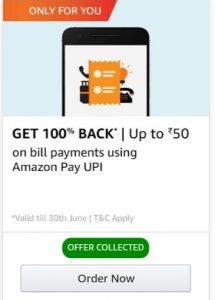 Amazon Pay Bill Payment Offer